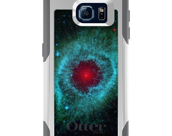OtterBox Commuter for Galaxy S4 / S5 / S6 / S7 / S8 / S8+ / Note 4 5 8 - CUSTOM Monogram - Any Colors - Blue Teal Black Helix Nebula