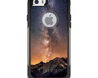 OtterBox Commuter for Apple iPhone 5S SE 5C 6 6S 7 8 PLUS X 10 - Custom Monogram - Any Colors - Milky Way Over Mountains