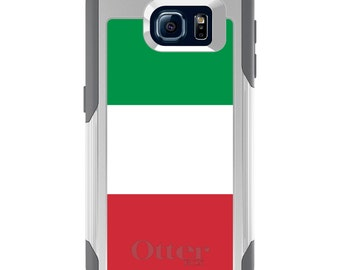 OtterBox Commuter for Galaxy S4 / S5 / S6 / S7 / S8 / S8+ / Note 4 5 8 - CUSTOM Monogram - Any Colors - Italy Flag
