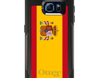 OtterBox Commuter for Galaxy S4 / S5 / S6 / S7 / S8 / S8+ / Note 4 5 8 - CUSTOM Monogram - Any Colors - Spain Spanish Flag