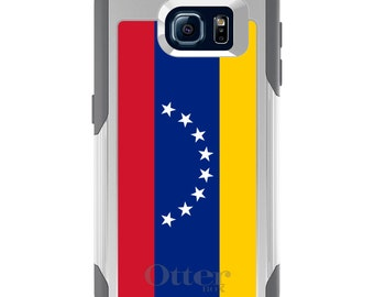 OtterBox Commuter for Galaxy S4 / S5 / S6 / S7 / S8 / S8+ / Note 4 5 8 - CUSTOM Monogram - Any Colors - Venezuela Flag
