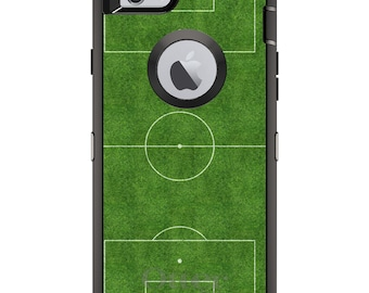 CUSTOM OtterBox Defender Case for Apple iPhone 6 6S 7 8 PLUS X 10 - Personalized Monogram - Soccer Field Layout