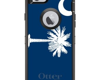 CUSTOM OtterBox Defender Case for Apple iPhone 6 6S 7 8 PLUS X 10 - Personalized Monogram - South Carolina State Flag