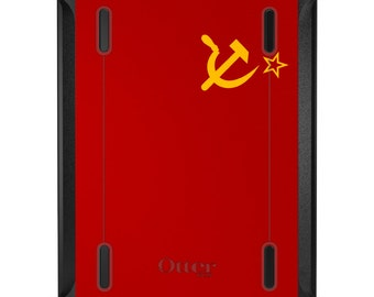 Custom OtterBox Defender for Apple iPad 2 3 4 / Air 1 2 / Mini 1 2 3 4 - CUSTOM Monogram - USSR Soviet Flag