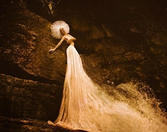 """Postcard art photography """"I dreamed in the cave where the mermaid swimming"""""""