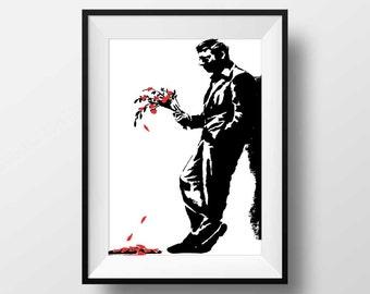 Banksy Street Art, Graffti Art, Stencil Art home wall decor poster print