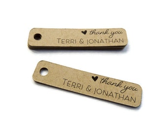 Thank You Tag - Personalized Tag - Custom Tag - Kraft Tags - Wedding Tag - Choose Your Size - Wedding Favor Tag - Wedding Thank You