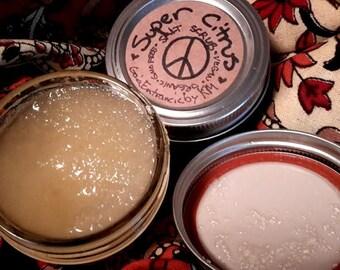 SUPER CITRUS: all natural salt scrub