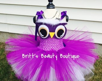Owl Tutu Dress/Costume/Pageant Wear/Halloween/Infant/Toddler/Girl