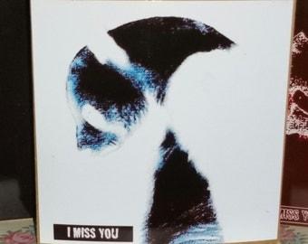 Miss you Panda - white