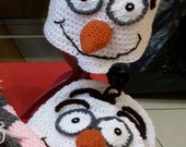 Crochet Olaf Hat Inspired by Disneys 'Frozen' /Snowman Hat 'MADE-TO-ORDER'
