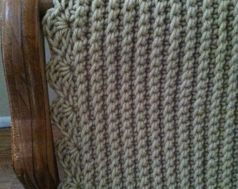 Crochet Throw Blanket - Camel Color...Ready to ship!