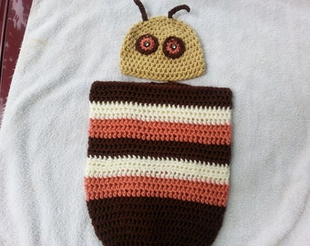 Caterpillar Cocoon with Hat