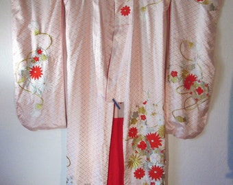 Japanese Wedding Kimono embroidered in gold 1950 WK 4