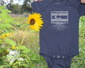 Colorado Flag Roots Onesie