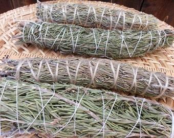 Large Rosemary (RosmarinusOfficinalis) Bundle approximately 8~9 inches, wild harvested, Reiki infused