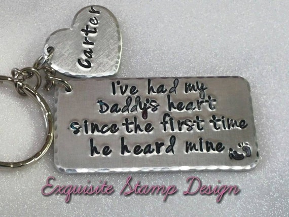 new dad gift new dad keychain by exquisitestampdesign on etsy