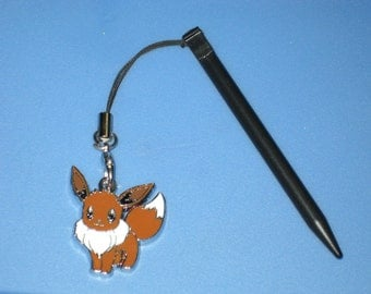 Nintendo 3DS Stylus With Pokemon Eevee Charm Attached