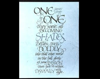 James Joyce Calligraphic Digital Print