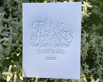 Letterpressed Calligraphic Sympathy Card