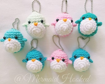Little Penguin Crochet Keychain