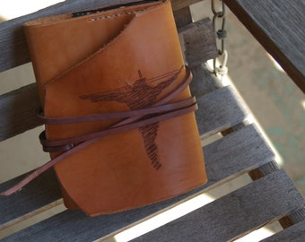 "Refillable Leather Prayer Journal Cover ""Crucifix"""