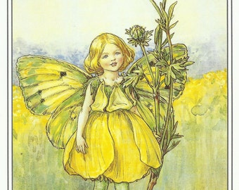 Buttercup Fairy by Cicely Mary Barker Flower Fairies Vintage Print 1995 Wall Art Nursery Decor Fairy Print Home Decor Print Fine Art