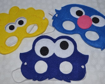 Sesame Street inspired mask