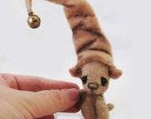 """OOAK Mini Miniature Jointed Bear """"Bearry"""" ~ 2.5"""" Artist Teddy By Michele Roy"""