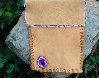 cell phone case cover beaded deerskin