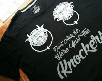 Dont Ask Us Labyrinth Door Knockers shirt