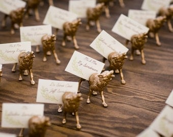 Custom Animal Magnet Place Card Holders (variable numbers)