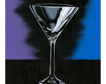 MARTINI GLASS PRINT!!! Archival-Quality from a L.E. of Only 10!!
