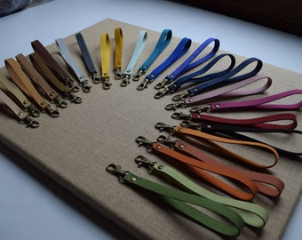 "6.5"" Folded Faux Suede Handbag Strap with Hook Antique Brass Hardware, Colorful 1/2"" Wide Skinny Strap for Clutch, Wallet, Wristlet VEGAN"