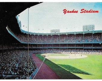 Old Yankee Stadium Grandstand Photo Postcard, c. 1960