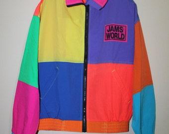 Vintage Jams World Jacket Color Block Surf Skate Hawaii