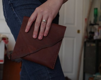 Unique Handmade Square Leather Clutch