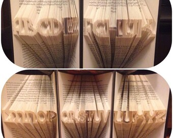 Mini Alphabet Book folding pattern