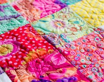 Kaffe Fassett fabric patchwork quilt