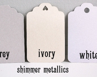 sample of shimmer gift tags metallic gift tags pearl wedding favors wedding gift