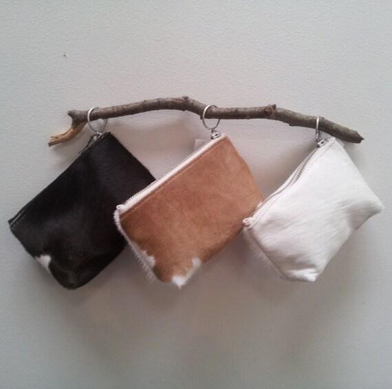 Cowhide purse - natural cowhide, ponyhair purse, fur purse