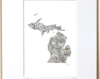 Michigan print, Michigan map, Michigan art, Michigan love, Michigan wedding, Michigan state