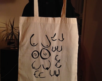 Boob Tote Bag--Available in two colours!
