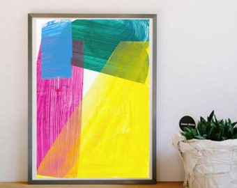 Abstract Painting - Collage - Fine Art Print - Digital Print - Modern Abstract Artwork