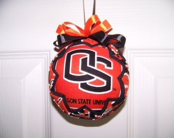 Oregon State University/ Beavers Quilted Ornament