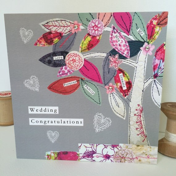 Wedding Tree-Greeting Card- handfinished