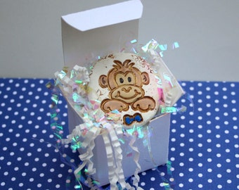 Boy gender reveal box, it's a boy pregnancy announcements, look at the bow to know, ooak baby shower keepsake