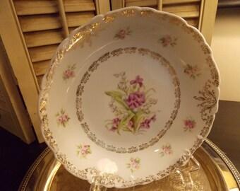 Vintage SERVING BOWL with Floral Design, Vintage Kitchen Serving Dish with Flowers, Large Serving Bowl