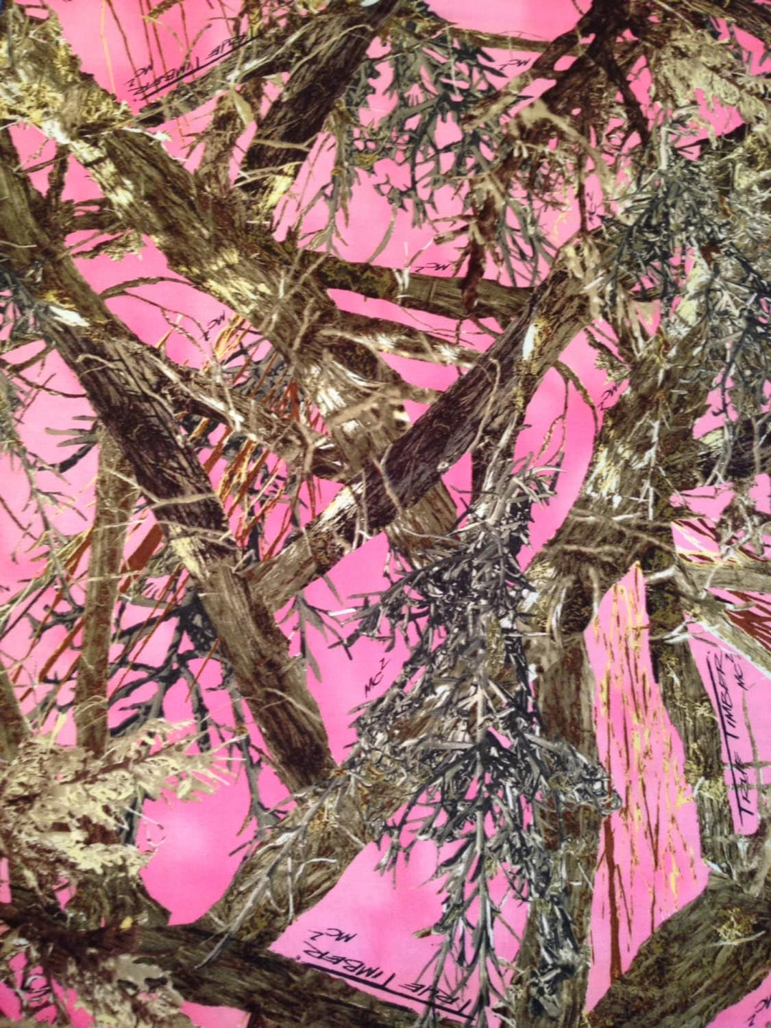Pink True Timber Fabric By The Yard Camo Fabric By The Yard