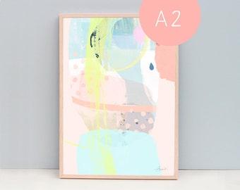 A2 Modern Art Print, Interior Decor, Wall Art, Abstract 95 - In Tune